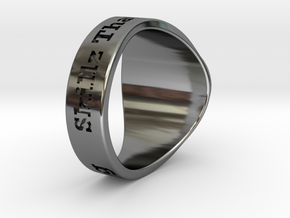 Superball G1nseng Ring Season 4 in Fine Detail Polished Silver