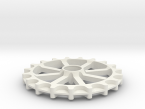 Idler for GT2-11 belt - 19 teeth, 11 mm pitch in White Natural Versatile Plastic