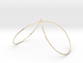 Infinity Wire Bangle in 14k Gold Plated Brass