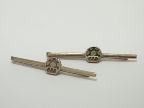 Super Mario Bros: 1UP Tie Clip in Polished Bronzed Silver Steel