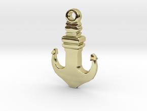 Anchor Pendant in 18k Gold