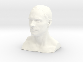 Man head in 3cm Passed in White Processed Versatile Plastic