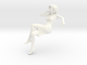 Lady sitting-011 scale 1/24 Passed in White Strong & Flexible Polished