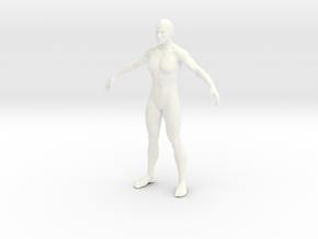 Man in 6cm Passed in White Processed Versatile Plastic