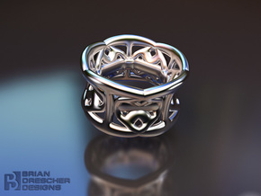 Harmony Handz Ring in Stainless Steel