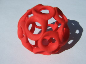 Moebius Ball in Red Processed Versatile Plastic