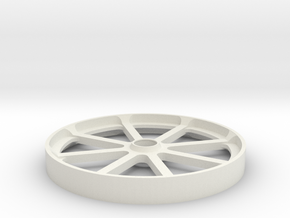 Smooth belt idler - 100mm in White Natural Versatile Plastic