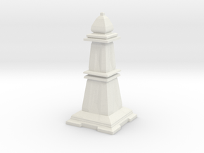 Bishop - Mini Chess Piece in White Natural Versatile Plastic