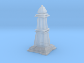 Bishop - Mini Chess Piece in Smooth Fine Detail Plastic