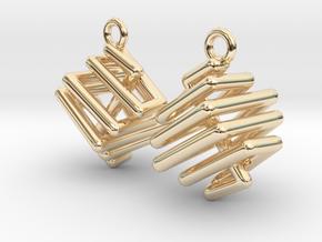 Ring-in-a-Cube-03-EarRings in 14K Yellow Gold