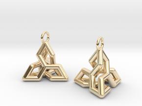 Ear-Rings-04 in 14k Gold Plated Brass