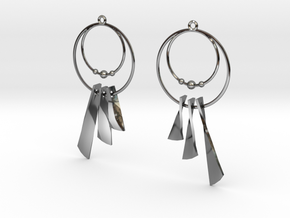 Earring Cazasueños in Fine Detail Polished Silver