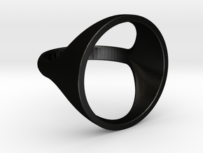 Circle Ring - Sz5 in Matte Black Steel