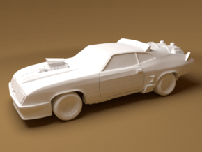 Ford Falcon, 1/64 Scale in White Natural Versatile Plastic