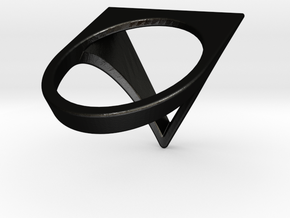 Triangle Ring - Sz5 in Matte Black Steel