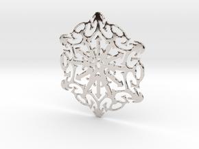 Snowflake Crystal in Platinum