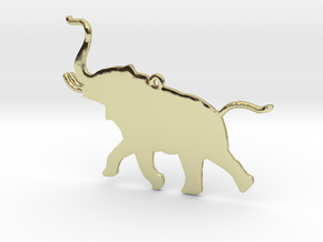 Trumpeting Elephant in 18k Gold