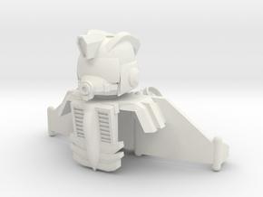 Jet Armor Set in White Natural Versatile Plastic