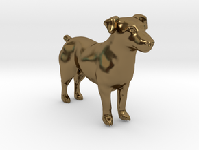 Brown Jack Russell Terrier in Polished Bronze