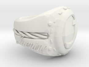 Jaenine Ring Pretest in White Natural Versatile Plastic