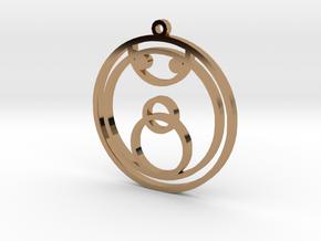 Joy - Necklace in Polished Brass