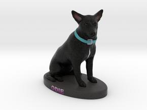Custom Dog Figurine - Odie in Full Color Sandstone