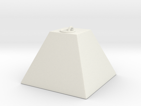 Tank Trap in White Natural Versatile Plastic