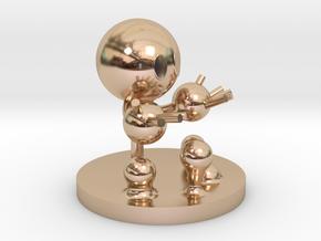 Water molecule figure in 14k Rose Gold Plated Brass
