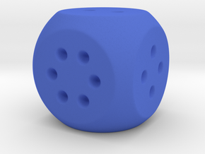 Easy Roll D6 in Blue Processed Versatile Plastic