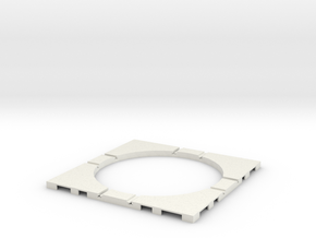 T-21-wagon-turntable-84d-100-corners-flat-1a in White Natural Versatile Plastic
