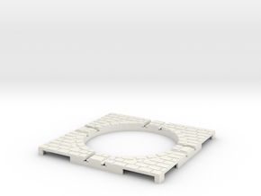 T-9-wagon-turntable-48d-100-corners-large-1a in White Natural Versatile Plastic