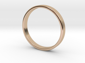 Simple Band Ring Size 6US/16.5mm EU in 14k Rose Gold