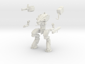15mm scale mech - Wolverine in White Natural Versatile Plastic