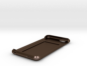 iPhone 6 Case w/ Hidden Card Slot in Polished Bronze Steel