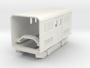 009 articulated railcar central power car in White Natural Versatile Plastic