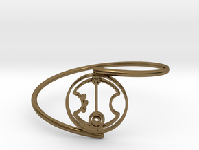 Peter - Bracelet Thin Spiral in Polished Bronze