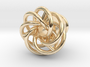Mobius-04-tunnel-8mm in 14K Yellow Gold