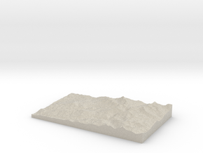 Model of Josephine Lake in Sandstone