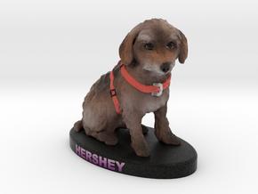 Custom Dog Figurine - Hershey in Full Color Sandstone