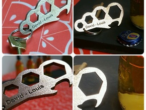 The Locust Metamorphosis Bottle Opener and Spanner in Stainless Steel