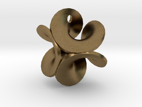 Enneper Earring Silver in Natural Bronze