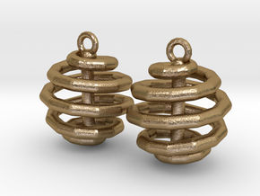 Ring-in-a-Ball-02-EarRing in Polished Gold Steel