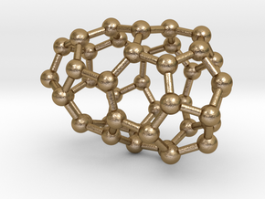 0184 Fullerene C42-1 c2 in Polished Gold Steel