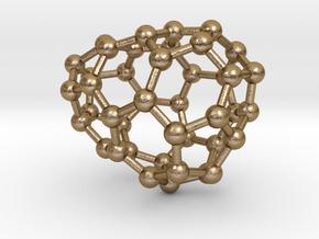 0185 Fullerene C42-2 c1 in Polished Gold Steel