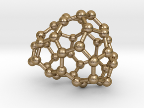 0187 Fullerene C42-4 c1 in Polished Gold Steel