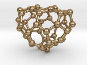 0188 Fullerene C42-5 c2 in Polished Gold Steel