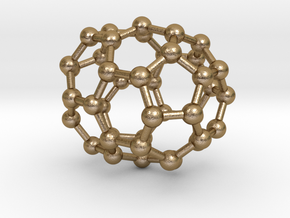 0189 Fullerene C42-6 c2v in Polished Gold Steel
