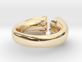 Cracking Wood ring - Size6 in 14k Gold Plated Brass