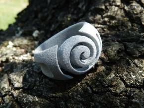 Spiral ring - Size 7 in Polished Metallic Plastic