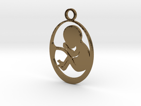 FetusBaby in Polished Bronze